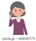 女性 シニア ベクターのイラスト 46848775