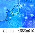 日本地図 インターネット デジタルのイラスト 46850610