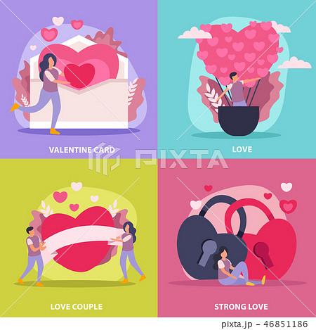 Love Couple Flat Icon Set 46851186