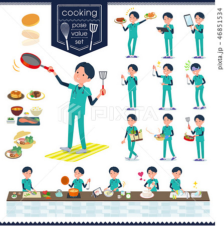 flat type surgical doctor men_cooking 46851534