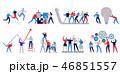 セット アイコン チームワークのイラスト 46851557