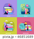 Library Flat Design Concept 46851689