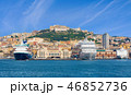 View from sea on coastline of Naples, Italy 46852736
