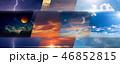 Weather forecast background 46852815