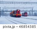 線路 鉄路 レールの写真 46854385