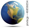地球 マップ 地図のイラスト 46856054