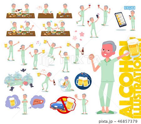 flat type patient old men_alcohol 46857379