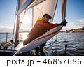 セイルボート 帆かけ舟 帆掛け船の写真 46857686