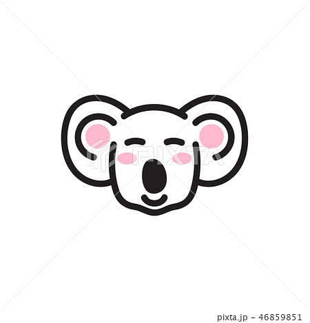 Cute koala bear head vector icon. 46859851