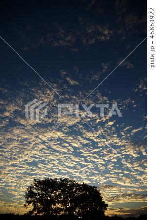 夕焼け 空 雲 グラデーション 風景 コピースペース  46860922