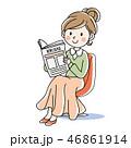 新聞を読む・女性 46861914