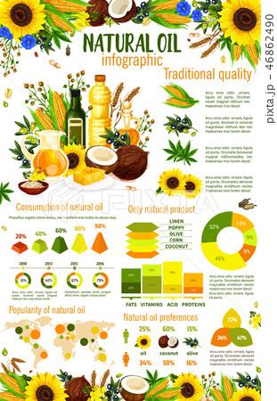 Vegetable oil food ingredients infographics 46862490