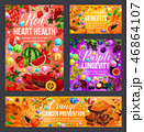 Color diet vegetables, fruits, spices. Healthcare 46864107