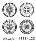 Nautical compass wind rose vintage icons 46864123