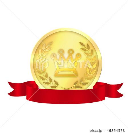 メダル アワード 月桂樹 成功 一番 勲章 ゴールドメダル 46864578
