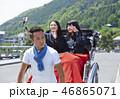 人力車に乗る二人の女子高生 46865071