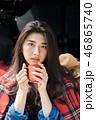 女性 キャンプ アジア人の写真 46865740
