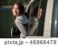 女性 夕方 ドライブの写真 46866478