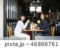 女性 2人 カフェの写真 46866761