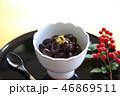 黒豆 黒豆煮 煮豆 おせち料理 お正月 金箔 南天の実 46869511