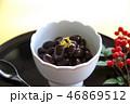 黒豆 黒豆煮 煮豆 おせち料理 お正月 金箔 南天の実 46869512