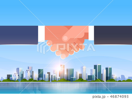 hand shake icon business handshake partnership agreement concept successful cooperation over big 46874093