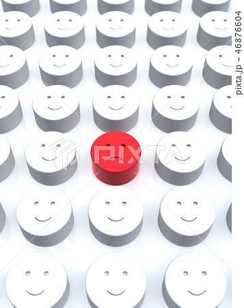 CG 3D イラスト 立体 デザイン アイコン マーク 人 不満 少数派 顔 組織 自分 平和 日本 46876604