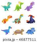 動物 恐竜 ベクターのイラスト 46877511