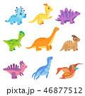 赤ちゃん 恐竜 マンガのイラスト 46877512