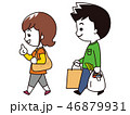 買い物 ショッピング 夫婦のイラスト 46879931