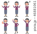 シニア セット 女性のイラスト 46881061