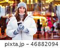 女の子 ウィンター 冬の写真 46882094