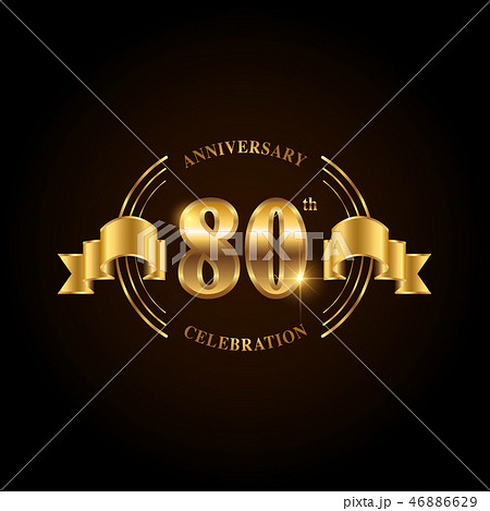 80 years anniversary celebration logotype.  46886629