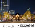 東京駅 丸の内 夜景の写真 46889646