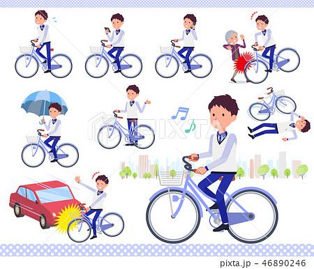 flat type Store staff Blue uniform men_city cycle 46890246