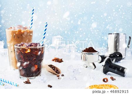 Winter drink iced coffee 46892915