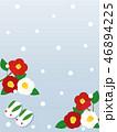 寒椿 椿 花のイラスト 46894225