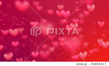 Valentines background, flying abstract hearts 46894817