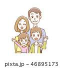家族 仲良し 笑顔のイラスト 46895173