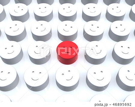 CG 3D イラスト 立体 デザイン アイコン マーク 人 不満 少数派 顔 組織 自分 平和 日本 46895692