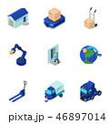 アイコン セット 組み合わせのイラスト 46897014