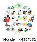 アイコン セット 組み合わせのイラスト 46897162