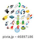 アイコン セット 組み合わせのイラスト 46897186