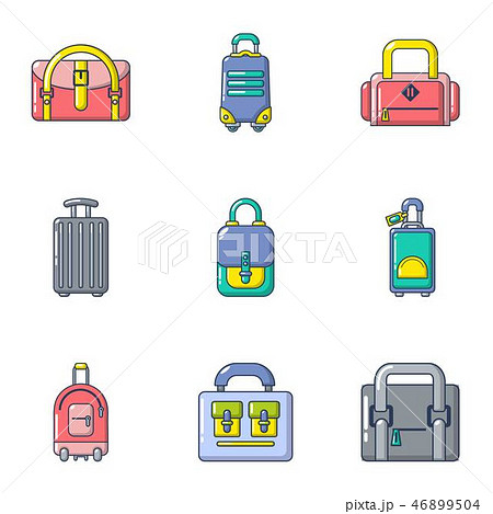 Sack icons set, cartoon style 46899504