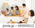 家族 三世代 食事の写真 46900012