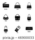 Satchel icons set, simple style 46900033