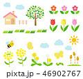春 花 アイコンのイラスト 46902767
