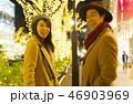 東京クリスマス イメージ・カップル・表参道 クリスマスイルミネーション 46903969