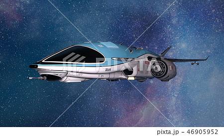 宇宙船のイラスト素材 46905952 Pixta