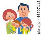 家族 4人家族 赤ちゃんのイラスト 46907118